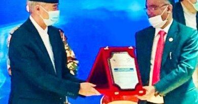 नेपाल सरकार ने नंदलाल शर्मा को सम्मानित किया