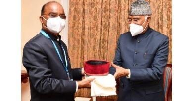 राष्ट्रपति रामनाथ कोविंद से मिले नंदलाल शर्मा